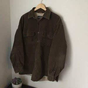 Brown corduroy woolrich Sherpa Jacket